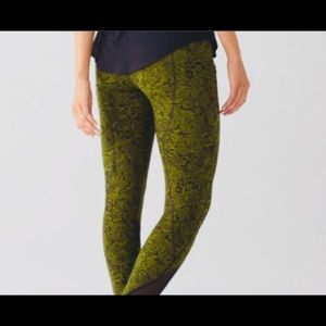 e884752b3a lululemon athletica Pants | Lululemon 78 Floral Green | Poshmark